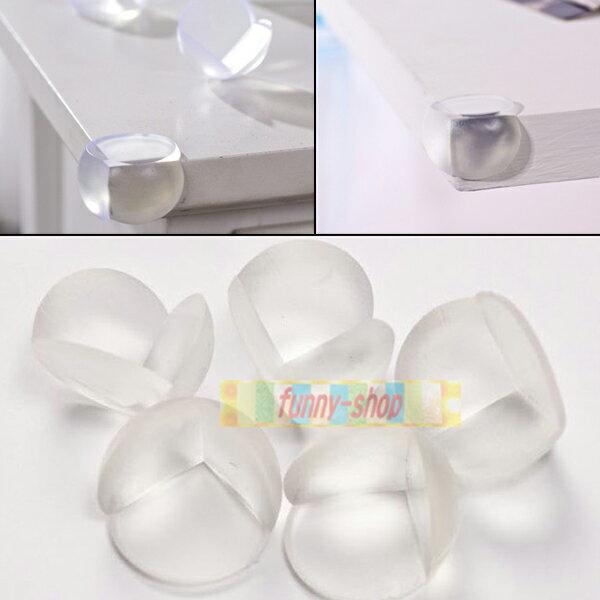 【巴布百貨】桌角防撞透明球型保護套(4入)