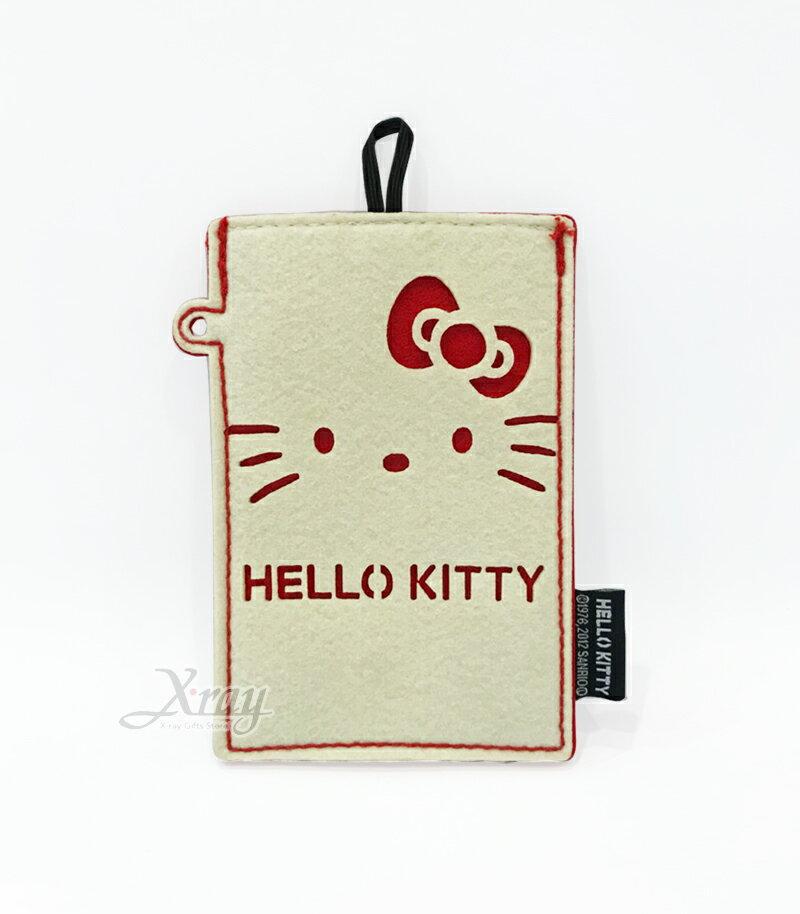 Hello Kitty手機袋(白),日本正版出清/Sanrio/Iphone/手機殼/手機套/智慧型手機/手機收納,X射線【C033864】