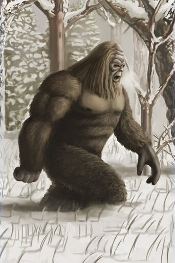 Bigfoot Rolled Canvas Art - Spencer SuttonScience Source (24 x 36)
