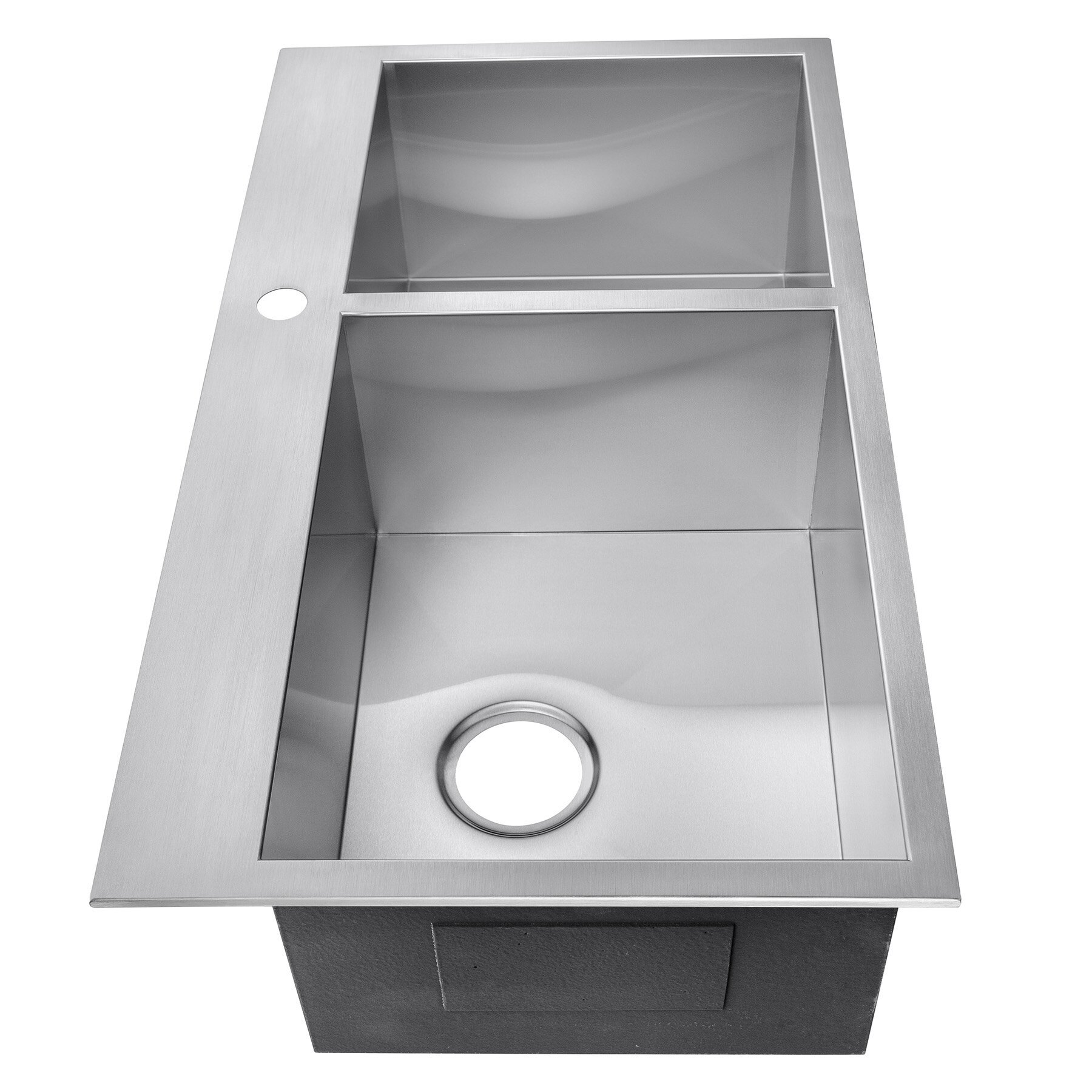 Akdy 33 X 22 X 9 Double Basin Top Mount Stainless Steel Kitchen Sink Tray Drain