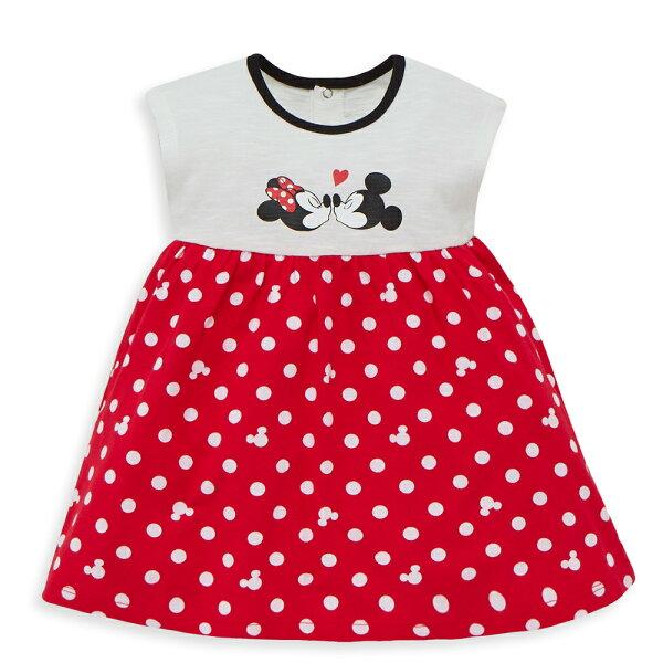 Disneybaby米妮系列小甜蜜圓點洋裝-白色