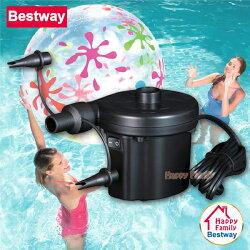 【歡樂家庭零售批發網】歐洲Bestway 110V家用電動充氣幫浦 / 充洩二用 / 打氣機 / 抽氣機 / 電動PUMP / 打氣筒 / 充氣床 / 充氣沙發 / 游泳圈 / 露營幫浦 (62055)