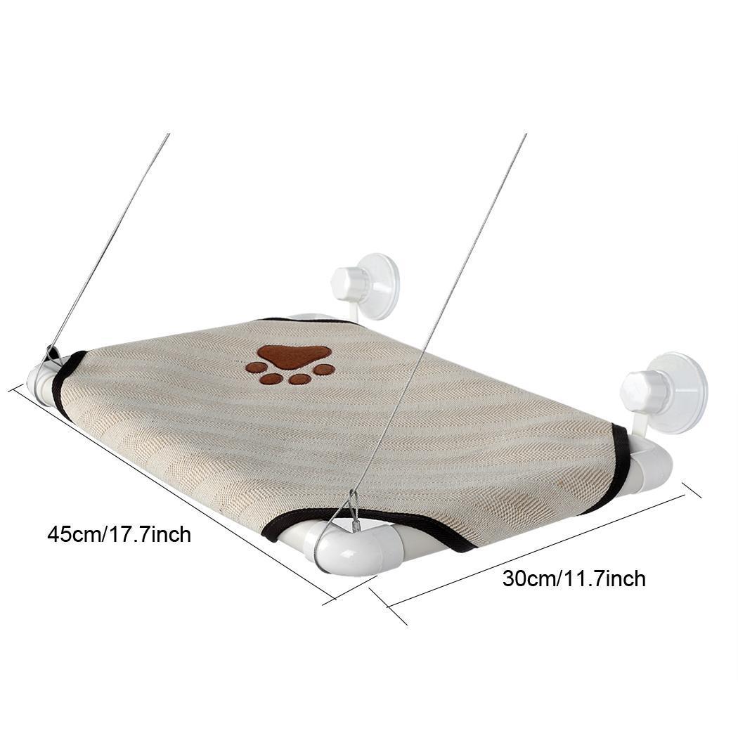 Pet Cot Window Bench Perch Bed Hanging Shelf Seat Original Comfortable With 4 Suckers 5