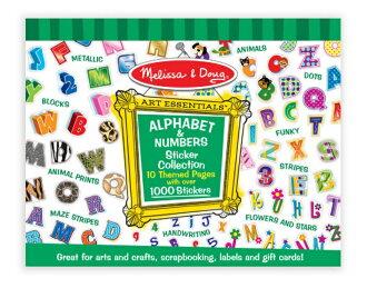 【寶貝樂園】美國瑪莉莎 Melissa & Doug 字母數字 大型貼紙簿