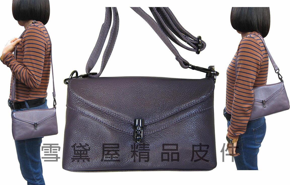 ~雪黛屋~ITALI-DUCK 手提肩背包小容量100%牛皮革附活動型長背帶台灣製造主袋內二層ID206