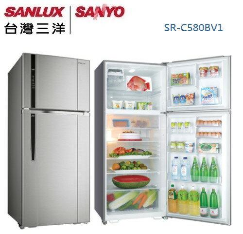 KABO佳麗寶家電批發:【佳麗寶】-(台灣三洋SANLUX)580公升直流變頻冰箱SR-C580BV1