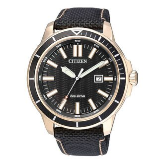 CITIZEN星辰AW1523-01E黑金流行光動能腕錶/黑面45mm