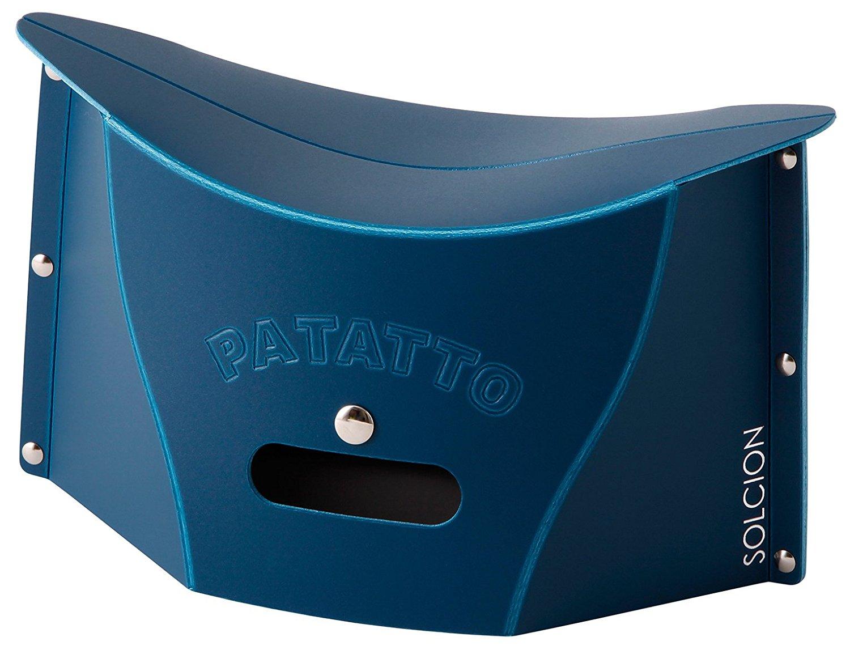 X射線【C642644】PATATTO mini超輕量可折疊攜帶式椅子S-藍,露營椅/收納椅/造型椅/折疊椅/凳子/矮凳/板凳/椅子