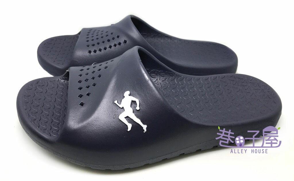 【巷子屋】JIMMY POLO 男款一體成型防水運動拖鞋 [76004] 藍 MIT台灣製造 超值價$198
