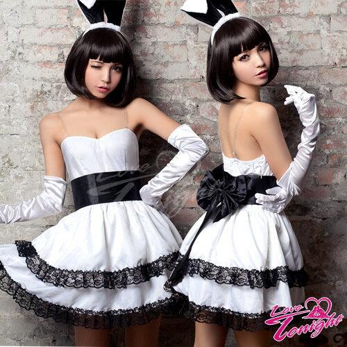 性感制服-兔女郎-白-F