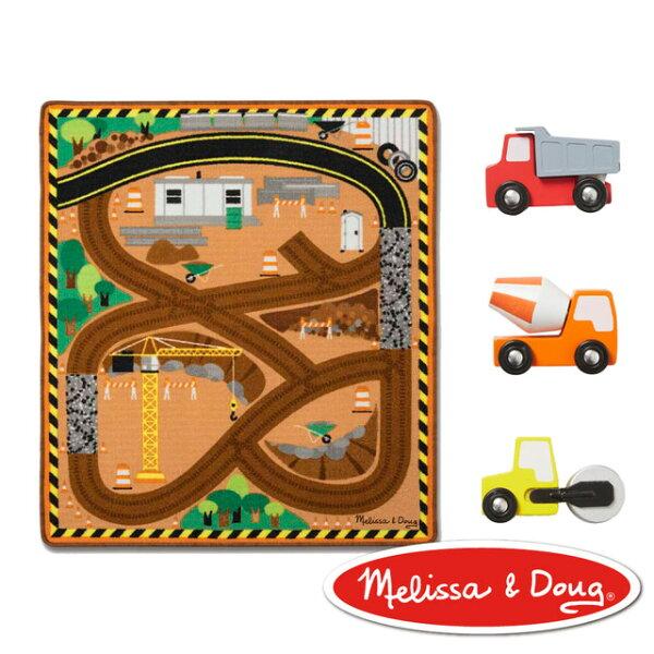 美國瑪莉莎Melissa&Doug交通遊戲-建築工程環繞道路地墊組【寶貝樂園】
