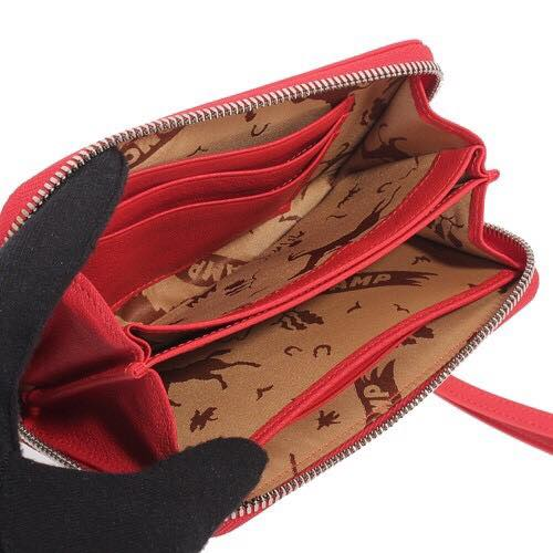 【LONGCHAMP】 Le Pliage Cuir系列小羊皮手拿/零錢包(紅)【全店免運】 3