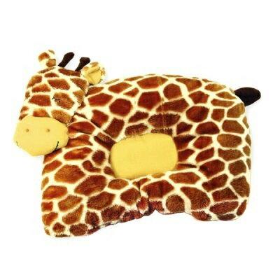 babymio頂級超細纖維動物睡枕-長頸鹿紋