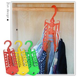 【aife life】多功能魔術折疊衣架/活動曬衣架/收納衣架/神奇衣架/直立式衣架/節省空間收納