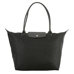 LONGCHAMP 加厚尼龍 手提購物袋 超大 黑色
