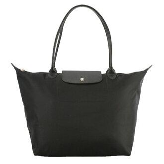LONGCHAMP 1899 578 001新款Le pliage系列 1899加厚尼龍超柔軟材質大號手提購物袋 超大容量 黑色
