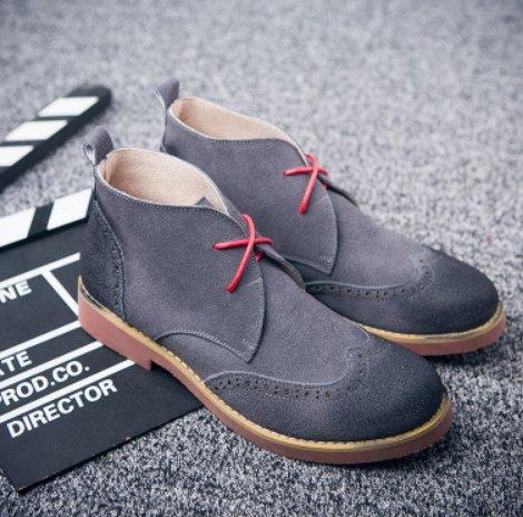 韓國 高端 馬丁 沙漠 英倫 皮 高筒 鞋