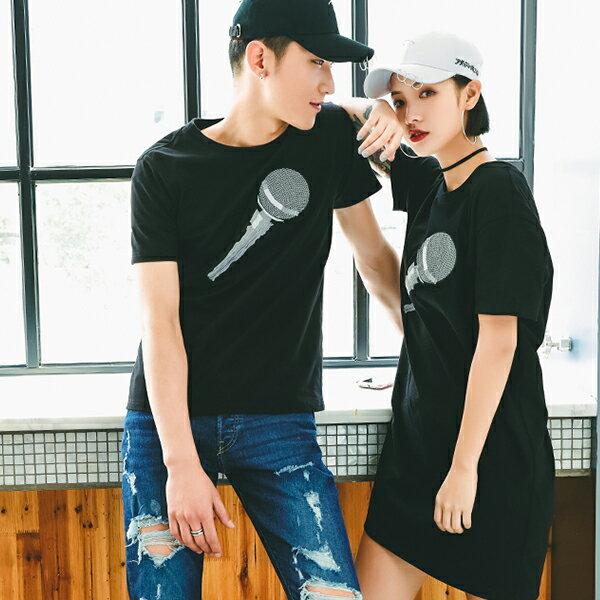 T恤 情侶裝 客製化 MIT台灣製純棉短T 班服◆快速出貨◆獨家配對情侶裝.麥克風【YC581】可單買.艾咪E舖 3