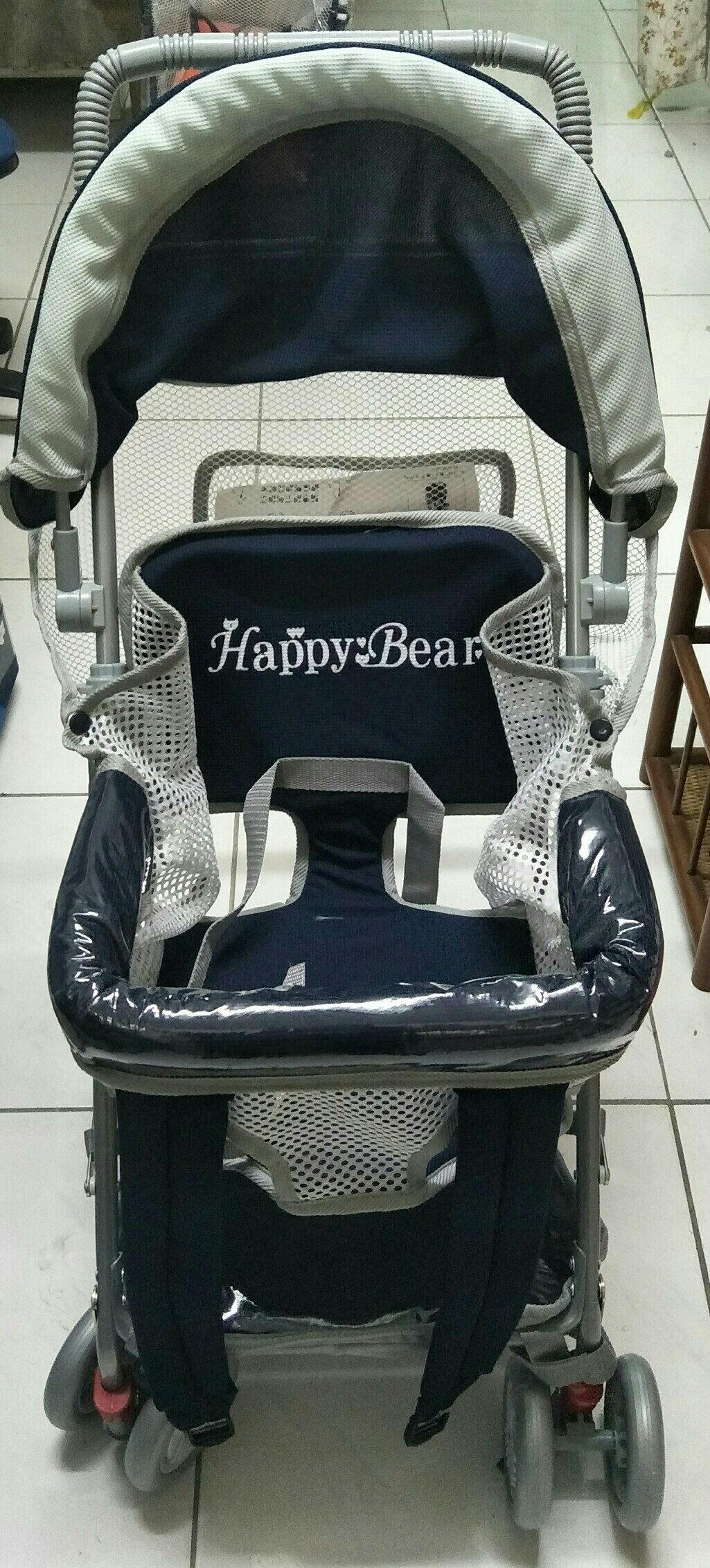 Happy Bear手推嬰幼兒車/可推式機車椅 CH-923  (深藍/酒紅/藍)