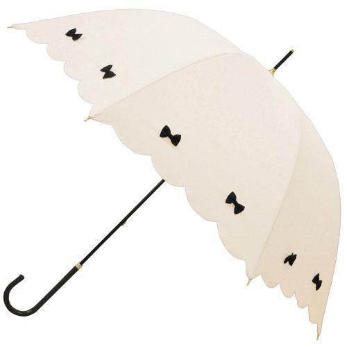 日本代購預購蝴蝶結遮陽傘雨傘直立傘晴雨兩用傘長傘單人傘用傘紙箱運送555-14120