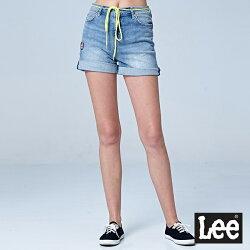 Lee 牛仔短褲-淺藍色洗水