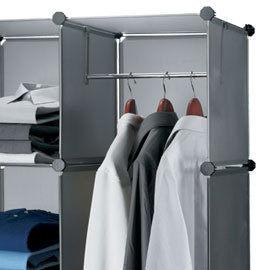 Loxin~SG0098~ikloo^~12吋收納櫃延伸 ~單格用短衣桿 衣架 曬衣桿 曬