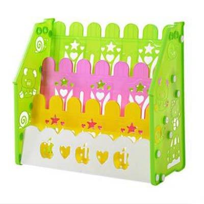【三層兒童書架-67*31*63cm-1套  組】寶寶書架簡易幼稚園圖書架小孩塑膠卡通繪本架-7701006