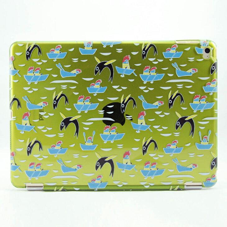 Moomin 嚕嚕米正版授權 -【 飛魚的領航(綠) 】:《 iPad Mini/Air/Pro 》水晶殼+Smart Cover(磁桿)