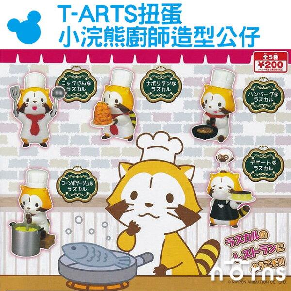 NORNS【T-ARTS扭蛋小浣熊廚師造型公仔】浣熊餐廳拉斯卡爾Rascal日本動畫可愛擺飾淘氣洛斯可轉蛋
