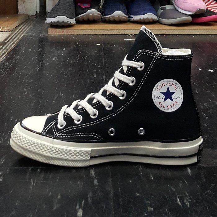 Converse Chuck Taylor All Star 1970s 黑色 高筒 三星標 帆布 復刻 142334C