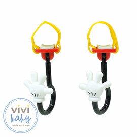 【全新出清現貨一組】ViViBaby -Disney迪士尼米奇手手推車掛勾 (2入/組) 399元