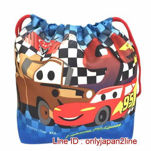 【真愛日本】16121400014便當束口袋-CARS  迪士尼 Cars 汽車總動員 閃電麥坤 日本限定 精品百貨 日本帶回