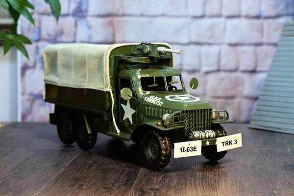美琪復古鐵皮軍車工藝品運輸作戰美式軍用卡車紀念版預購7天+現貨