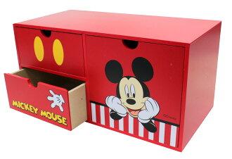 【真愛日本】17072100011 橫式抽屜置物盒-MK 迪士尼 米老鼠 米奇 mickey 木製收納櫃 抽屜櫃子
