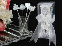 婚禮小物推薦到一定要幸福哦~~時尚風水果叉(1組4支)、婚禮小物、送客禮、伴娘禮