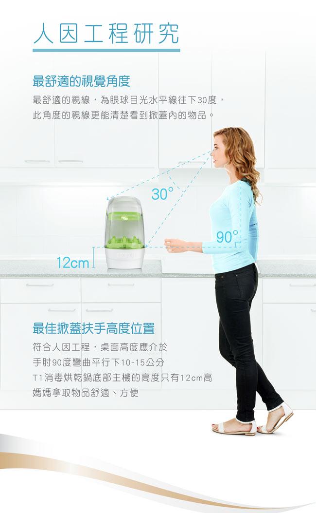nac nac - T1 觸控式消毒烘乾鍋 / 消毒鍋 (藍色) 2750元+贈水垢清潔劑 7