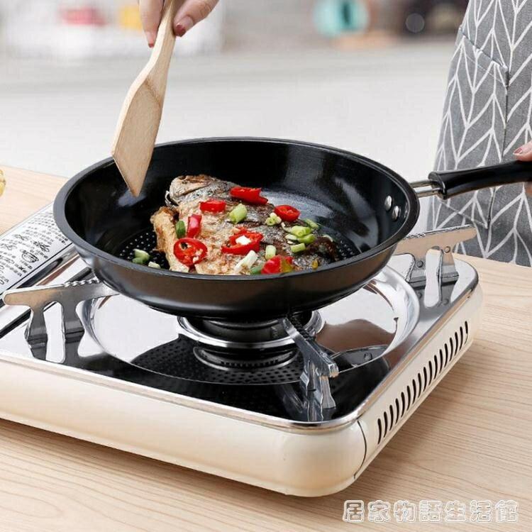 不銹鋼煎鍋平底鍋不黏鍋牛排煎鍋煎餅鍋煎蛋鍋電磁爐燃氣爐通用  居家物語
