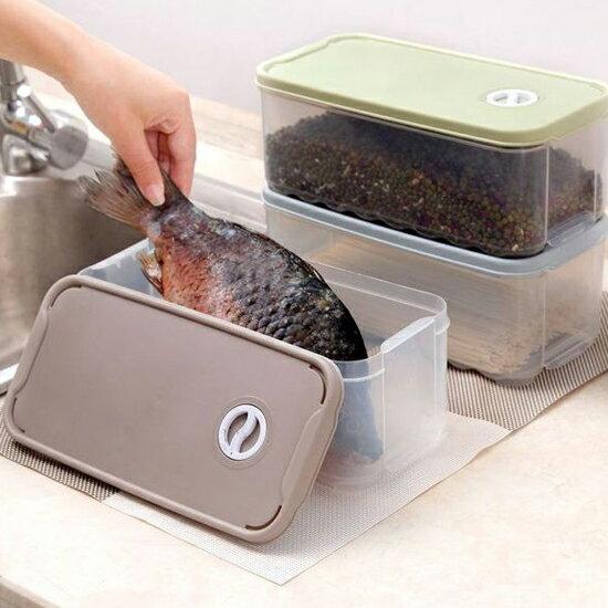 ♚MY COLOR♚可疊加日期設置保鮮盒(小) 冰箱 廚房 蔬菜 水果 甜點 點心 收納 乾糧 儲物【R60】