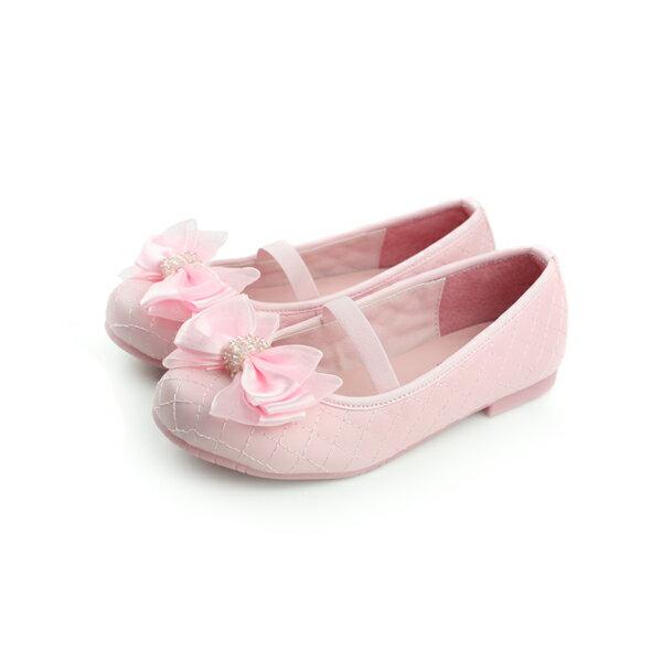 娃娃鞋 粉 中童 no129