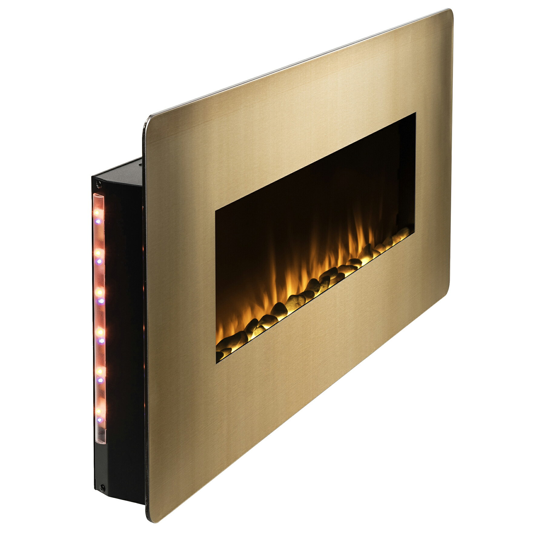 "AKDY 36"" Freestanding Wall Mount Electric Fireplace 3-in-1 Fuel Bed w/ Remote Control 2"