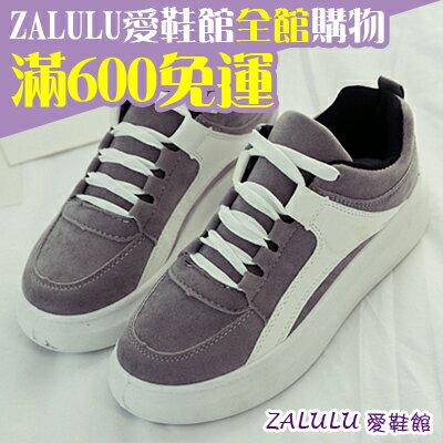 ☼zalulu愛鞋館☼ BE159 春季熱銷流線設計厚底運動鞋-黑/灰 36-39偏小