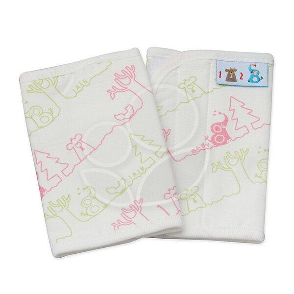 1A2B紗布揹巾口水巾-粉綠線條【悅兒園婦幼生活館】