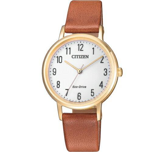 方采鐘錶:CITIZEN星辰LAD'S知性優雅光動能女錶EM0578-17A