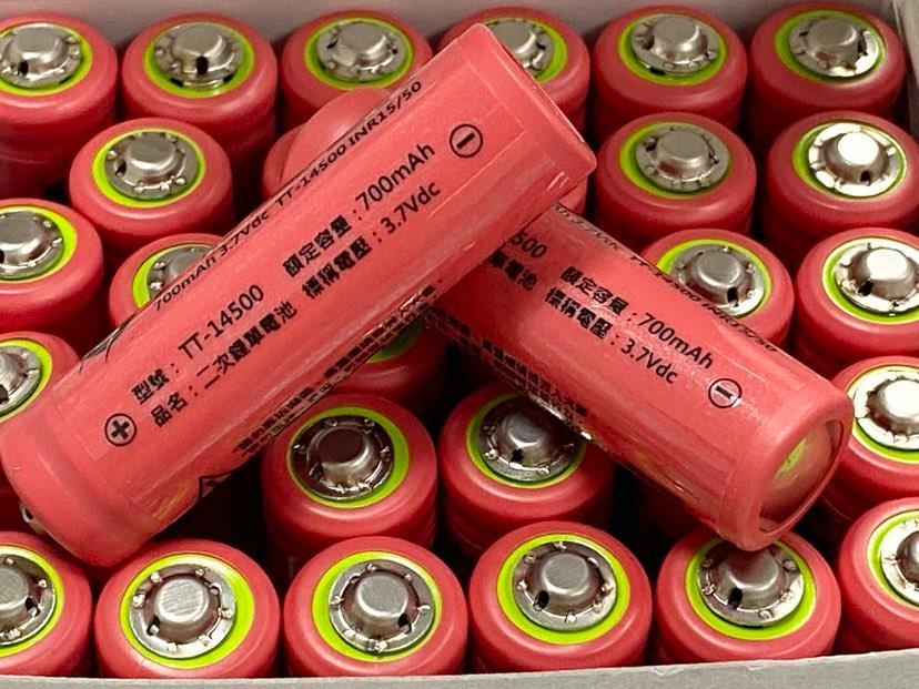 商檢合格 SONY 14500鋰電池 三洋700mAh 凸頭 14500電池