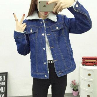 韓版 時尚單寧牛仔加絨加厚外套 S~XL現貨+預購韓風衣舍