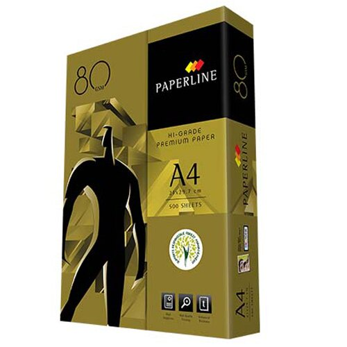 【 影印紙】PAPERLINE金牌 80P A4影印紙 (5包/箱)