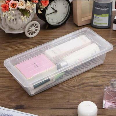 【瀝水保鮮盒-28*12*6cm-5個裝/套-1套/組】冰箱帶蓋密封盒筷籠子冷藏生鮮儲物盒-7201001