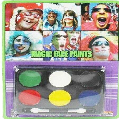 cos化妝 小丑化妝油彩 六色裝 臉妝 彩妝 化妝舞會 棒球/派對/服裝/角色扮演/變裝【塔克】