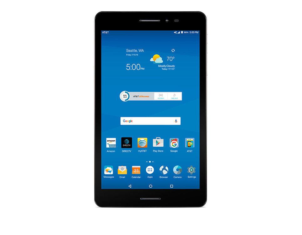 "ZTE TREK 2 HD K88 AT&T Unlocked Tablet GSM Wi-Fi - CELLULAR 16GB 8"" Tablet 1"