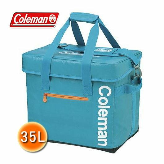 【露營趣】中和安坑 Coleman CM-6601 35L Elite水藍保冷袋 軟式冰桶 保冰袋 保溫袋 摺疊冰箱